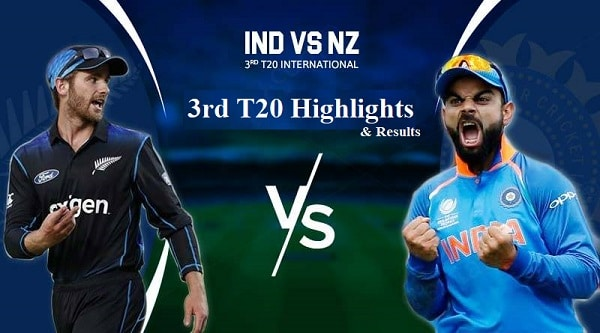 India Vs NewZealand 3RD T20