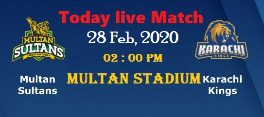 Multan sultan vs karachi kings live match