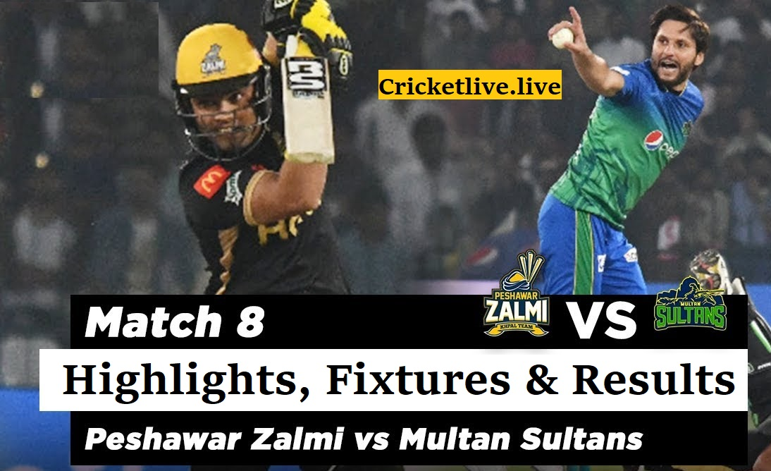 Peshawar Zalmi vs Multan Sultans Highlights