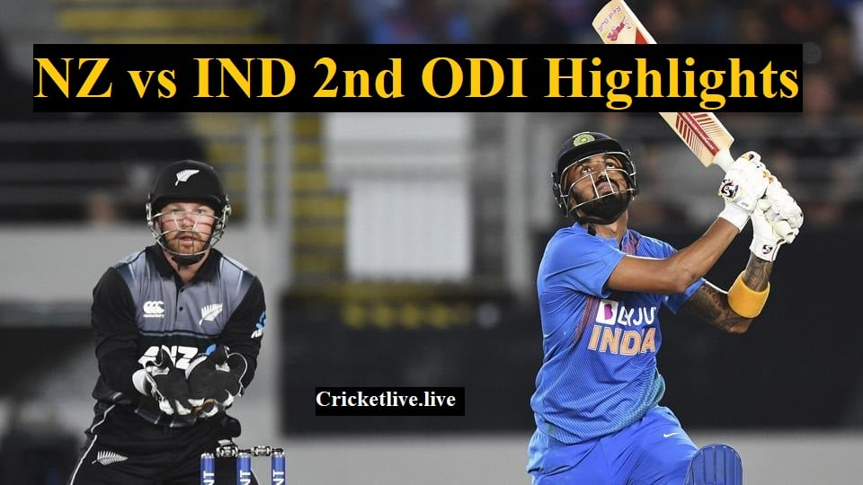 ind vs nz 2nd odi highlights