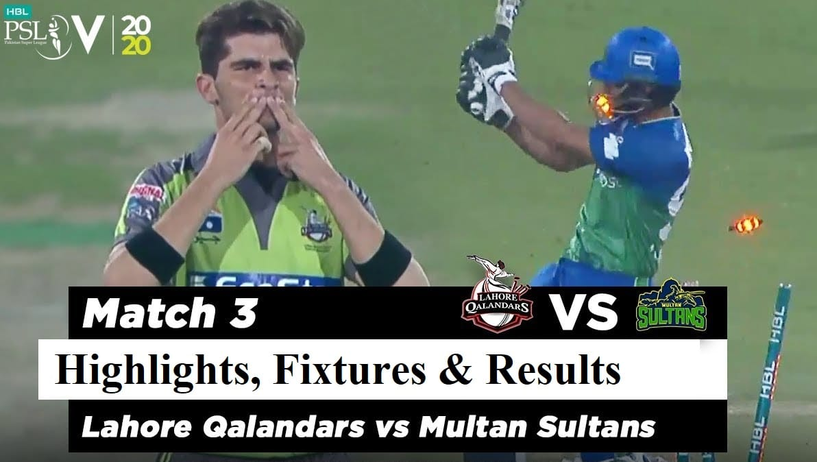 lahore qalandars vs islamabad united 3rd match highlights