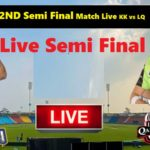 2nd Semi Final Match live