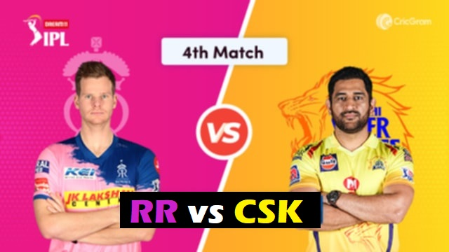 4th Match RR vs CSK